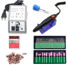купить Electric Nail Drill Machine For Manicure And Pedicure Drill 12W 20000RPM Milling Machine Nails Equipment Set Electric Nail File по цене 824.95 рублей