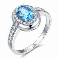 Serenade 2 0 Ct Genuine Natural Blue Topaz Sterling Silver Gemstone Ring
