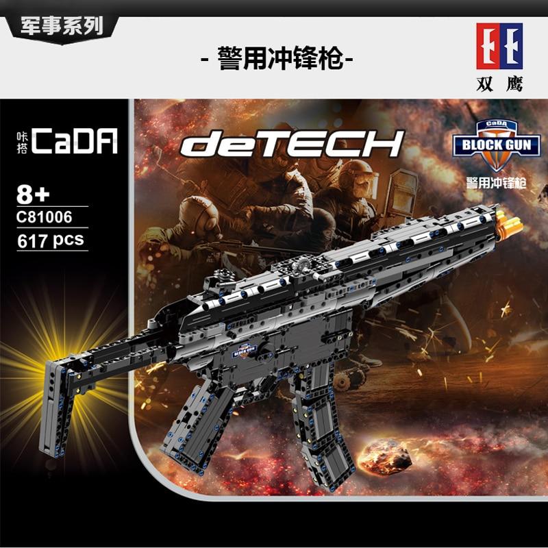 Heckler Koch MP5 Submachine gun Military Series Building Blocks Bricks Compatible with legoinset Technic Model toys Cada C81006 цены