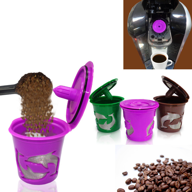 Metal Cups Reusable Refillable Coffee Filters for <font><b>Keurig</b></font> <font><b>2.0</b></font> <font><b>Brewers</b></font> K300 K400 K500 Tea K cup Coffe Filter Baskets New Year