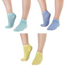 3 пары/партия, женские нескользящие носки для йоги с дезодоратором дышащие хлопковые носки для девочек, домашние танцы, балет для занятий фитнесом