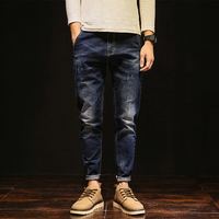 Loose Straight Jeans Men Elastic Cotton Classic Male Stretch Denim Pants Brand Spring Autumn Men S