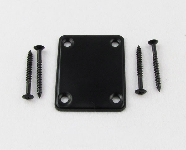 SEWS Black Electric Guitar Neck Plate Bass Guitar Neck Strength Connecting Board Joint Plate - Including 4 Screws - Black
