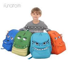 2019 3D Cartoon Dinosaur 15.6 inch Cute Kid Toddler School Bags Backpack Kindergarten Children Girls Boys Schoolbag Animal Bag недорого