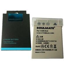 SOULMATE – pack de batteries lithium EN-EL8 ENEL8 pour appareil photo numérique, compatible avec Nikon Coolpix P1 P2 S1 S2 S3 S5 S50 S50c S51 S51