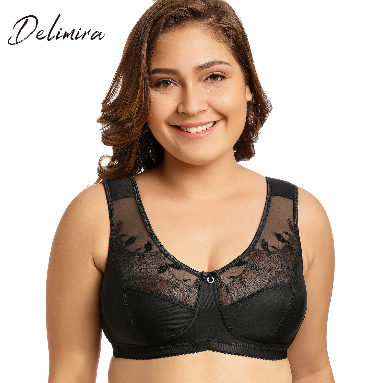 dfb80cfb94958 Delimira Women s Full Coverage Smooth Seamless Invisible Underwire ...