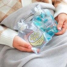 Мультфильм ручной Po Теплая бутылка для воды милый мини прозрачный бутылки с горячей водой маленький портативный ручной подогреватель впрыска воды сумка для хранения