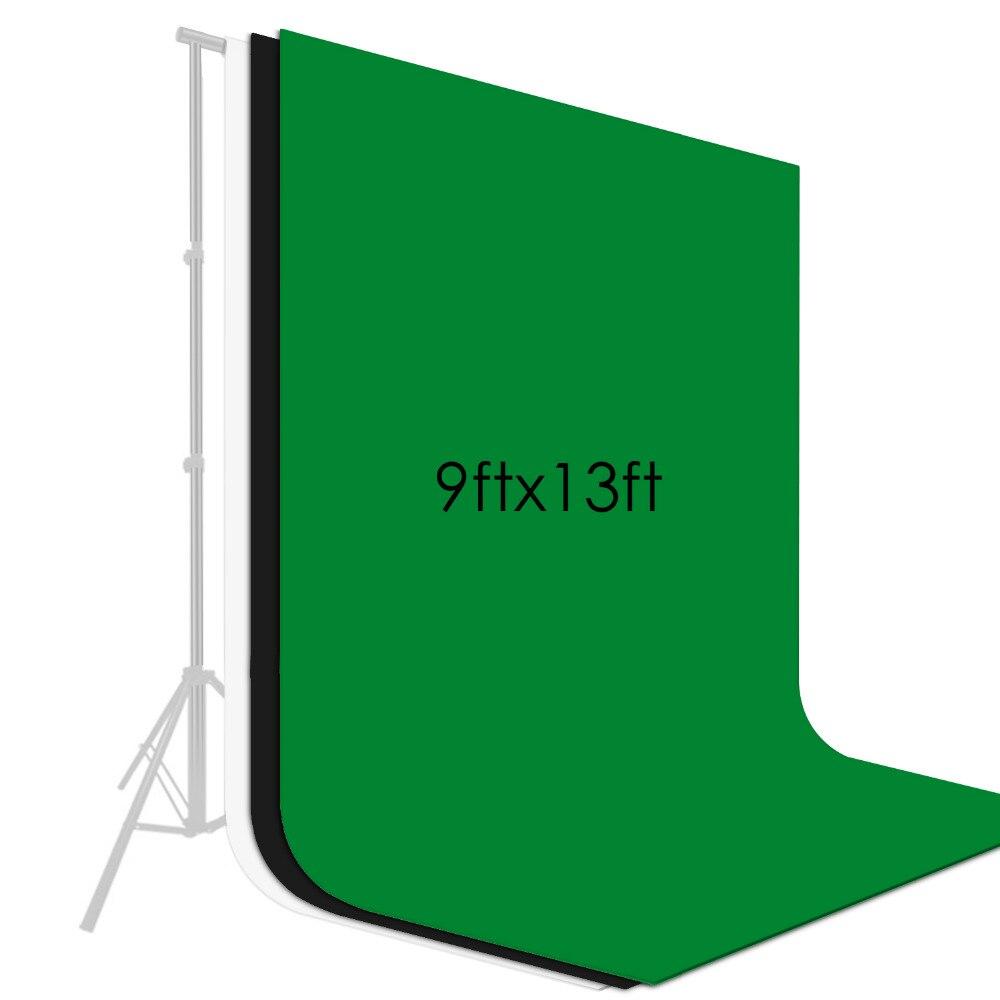 Neewer 9x13 pieds/2.8x4 mètres arrière-plan photographie Photo Vidéo Studio Tissu Toile de Fond Fond Écran 3 Couleur kit