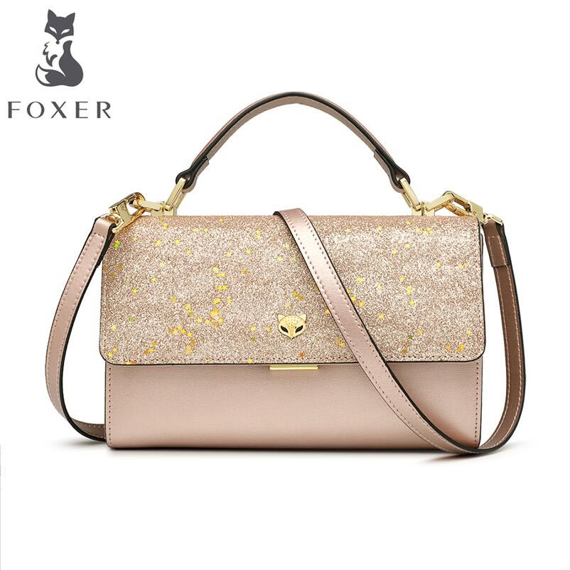 FOXER 2018 New women Leather bag fashionluxury handbags women bags designer small bag women leather Shoulder Crossbody Bags