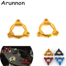 Arunnon For BUELL 1125R 2008-2009 XB12R 2009 Motorcycle Accessories 19mm CNC Aluminum Suspension Fork Preload Adjusters 4 Colors