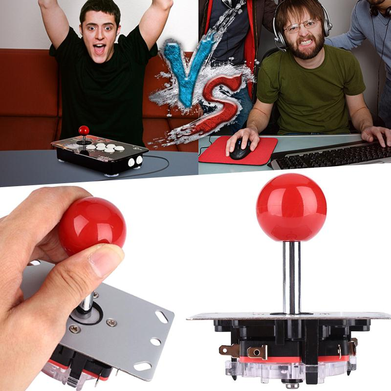 цена на Gasky Red Joystick 8 Way Controller Replacement Parts For Arcade Video Game Console Machine Professional joystick Boy Kid Gift