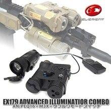 Element Airsoft SF PEQ 16A Tactique lumières Combo L-3 Advanced illuminateur avec M3X Viser Red Laser et IR lumière combo EX179