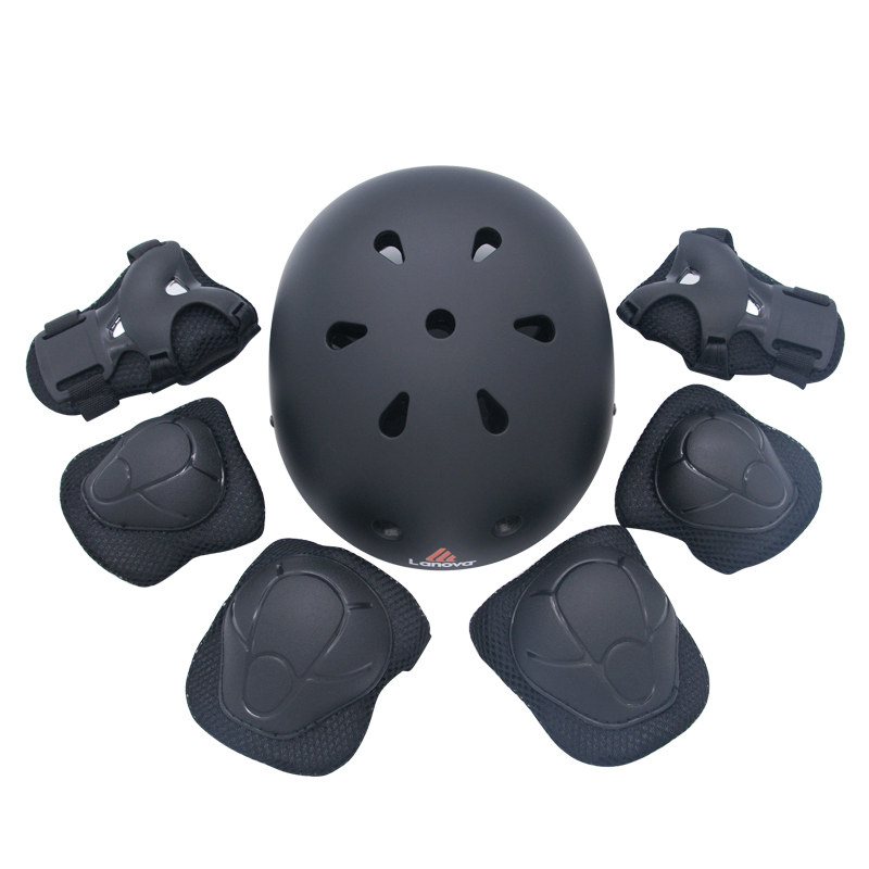 LANOVA 7 pcs/set Skating Protective Gear Sets Elbow pads Bicycle Skateboard Ice Skating Roller Knee Protector For Kids цены онлайн