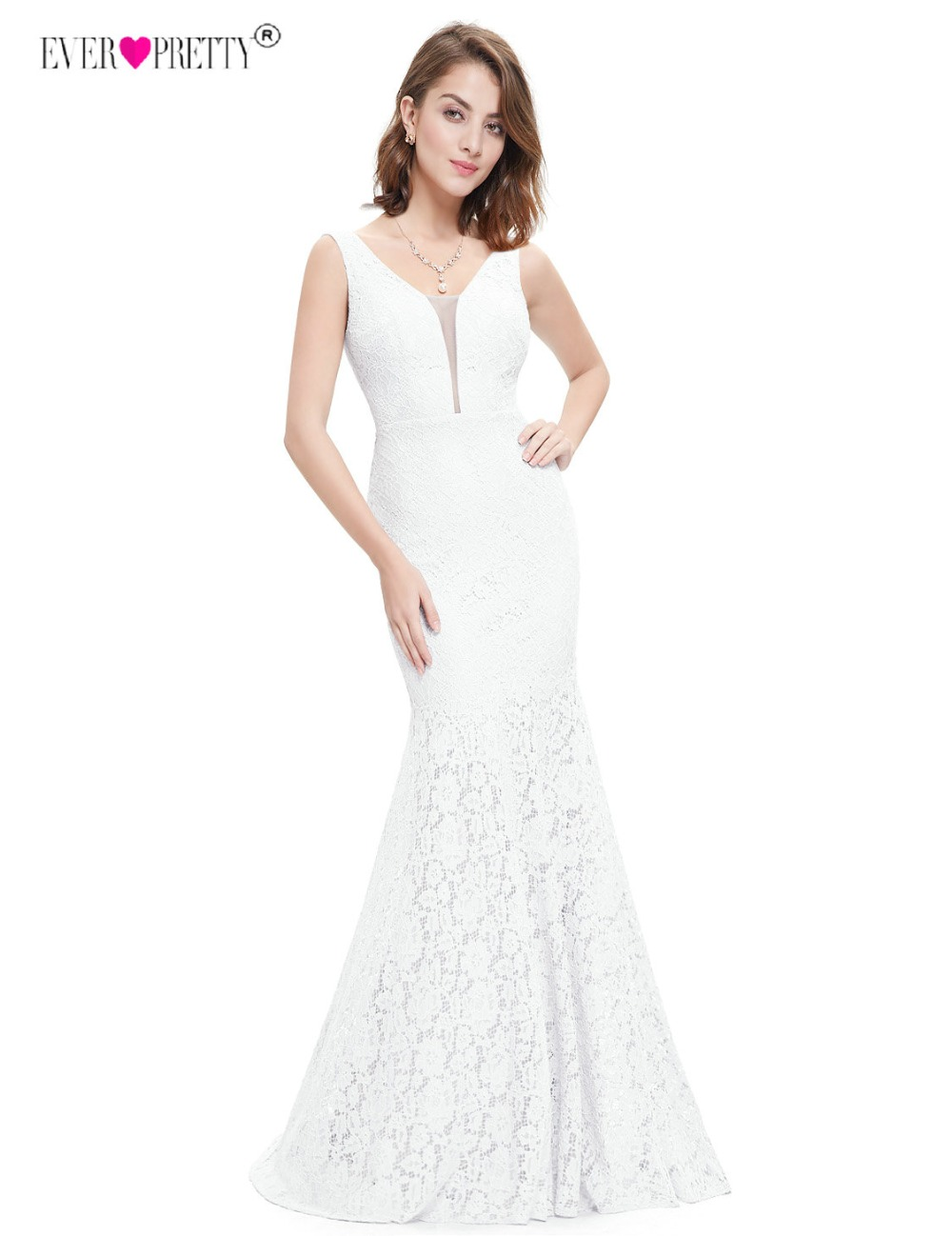 Ever Pretty Corset Lace Mermaid Wedding Dresses 2018 Simple Elegant Wedding Gowns for Bride Dress Boda robe de mariee EP08838 1