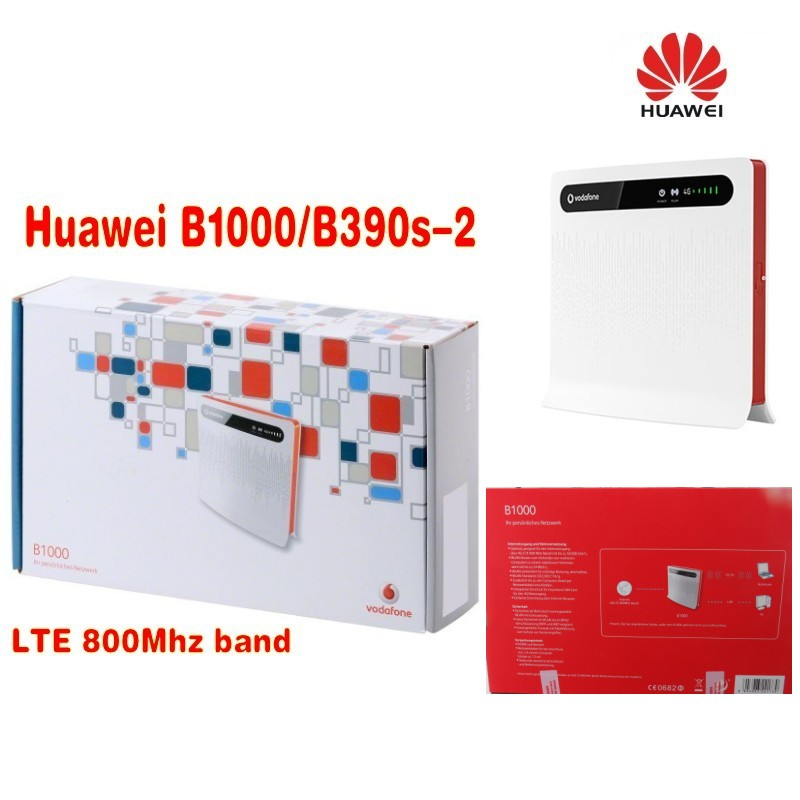 VODAFONE LTE B1000 WIRELESS ROUTER / HUAWEI B390S-2 -WLAN+4x LAN+2pcs 4g antenna
