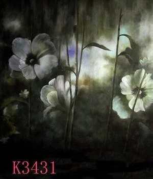 Toile de fond de photo fantastique peinte à la main 3*5 m K3431 vestido de noiva, fond de mousseline, photographie d'accessoires de studio