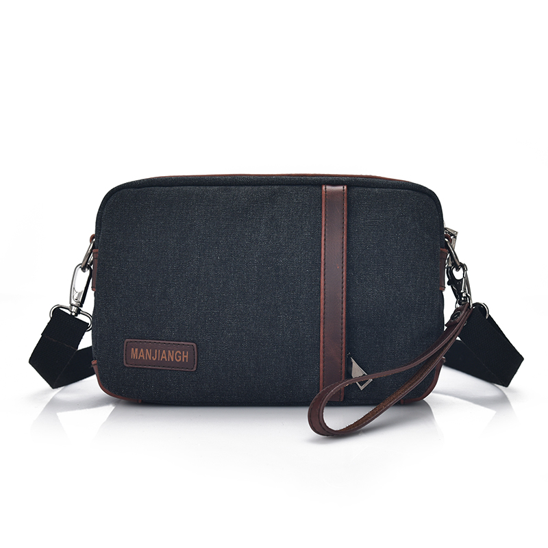 253a2674f4d0 Black Coffee Khaki Summer Fashion Manjianghong Canvas Small Travel Shoulder  Bag Men Messenger Bags Canvas Day Clutch Bag 1369-in Crossbody Bags from  Luggage ...