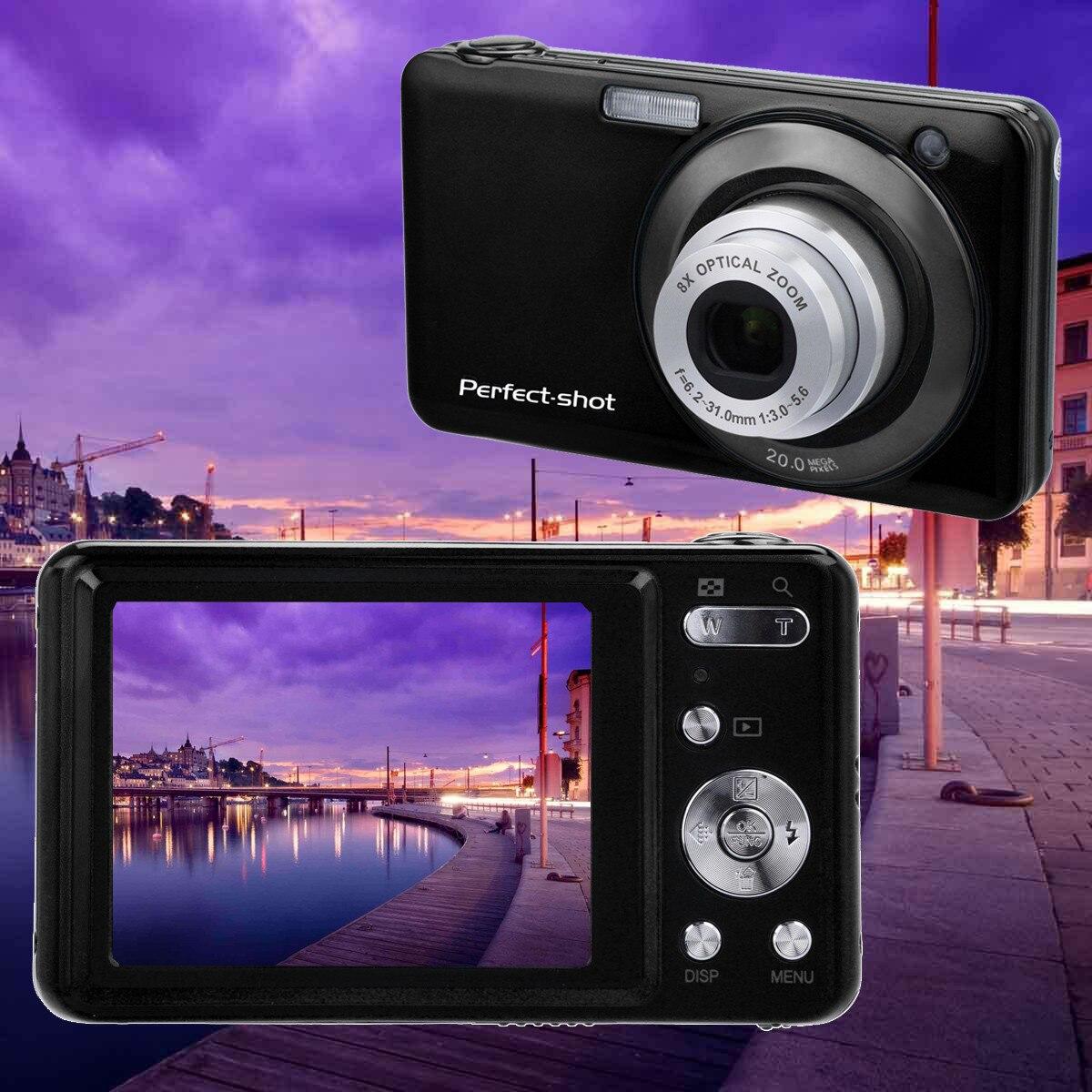 2.7 pouces écran LCD 20MP 8X Zoom optique caméra numérique lentille télescopique 20A livraison directe facile et pratique à utiliser Z527