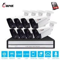 Хранитель H.265 8CH 5MP POE Система NVR с 8 шт 5MP Onvif POE ip-камеры видеонаблюдения с аудио спикер комплект для камеры видеонаблюдения