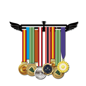 Image 1 - Sport medal hanger Medal display rack for running,swimming,gymnastics Metal medal holder for 20+ medals