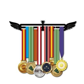 Sport medal hanger Medal display rack for running,swimming,gymnastics Metal medal holder for 20+ medals