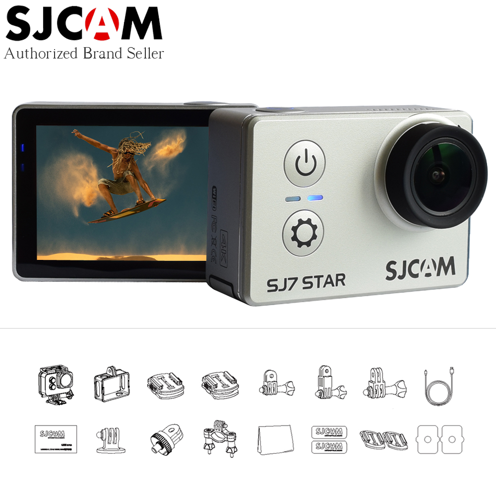 SJCAM SJ7 STAR Wifi 4k Touch Screen Ambarella A12S75 30M Waterproof Diving Remote Control Ultra HD Mini Sports Action Camera DV