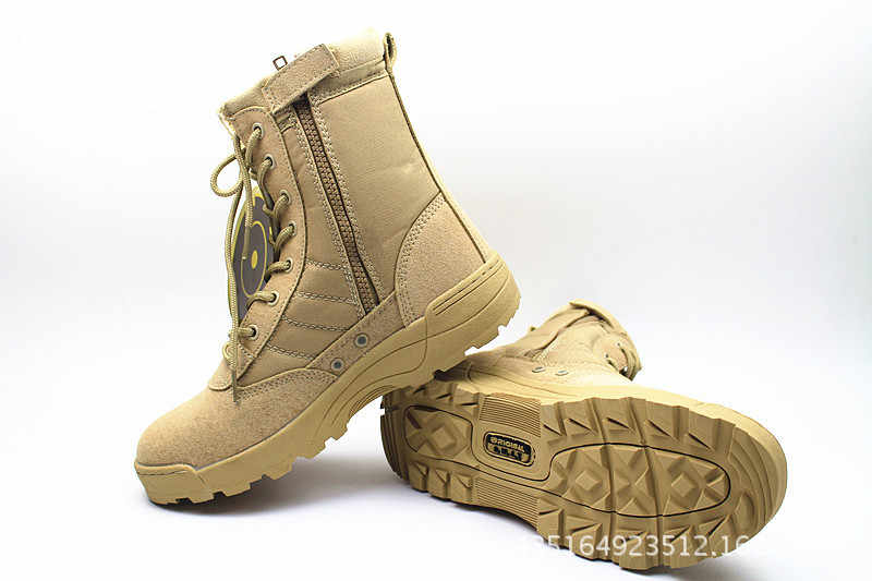 ... PLUS SIZE 36-46 New Us Military Leather Combat Boots for Men Combat Bot  ... 8638f00d4384