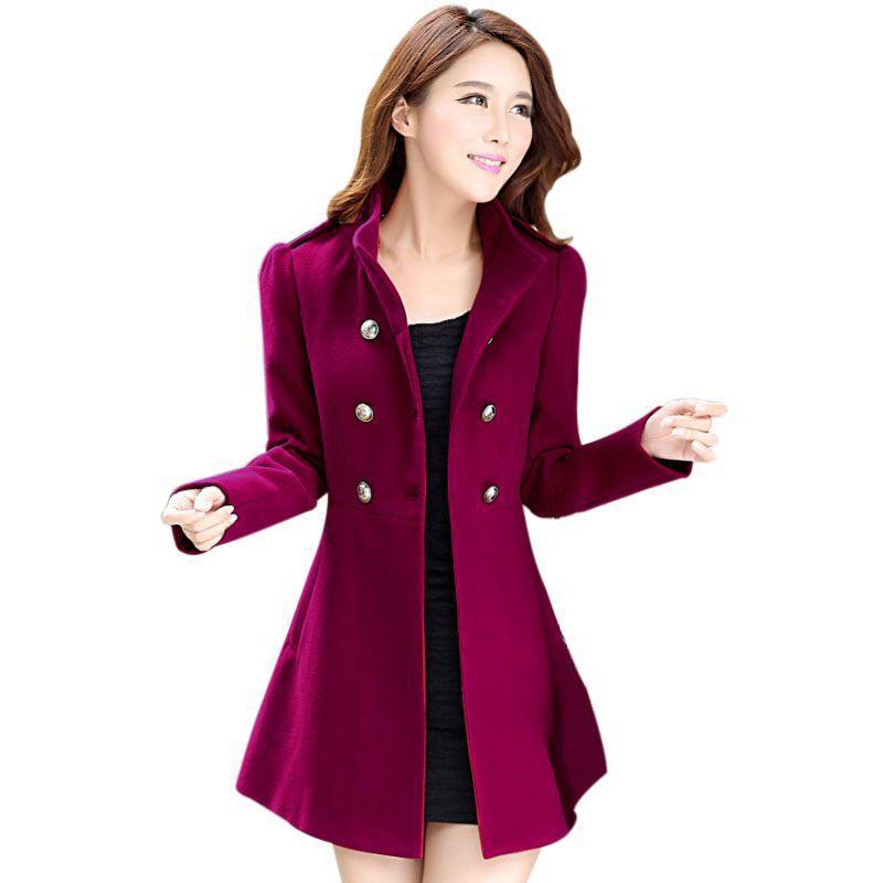 Girl s Autumn Winter Korean Women Windbreaker Coat Lady Warm Long Sleeved Jacket Outwear Slim Casual