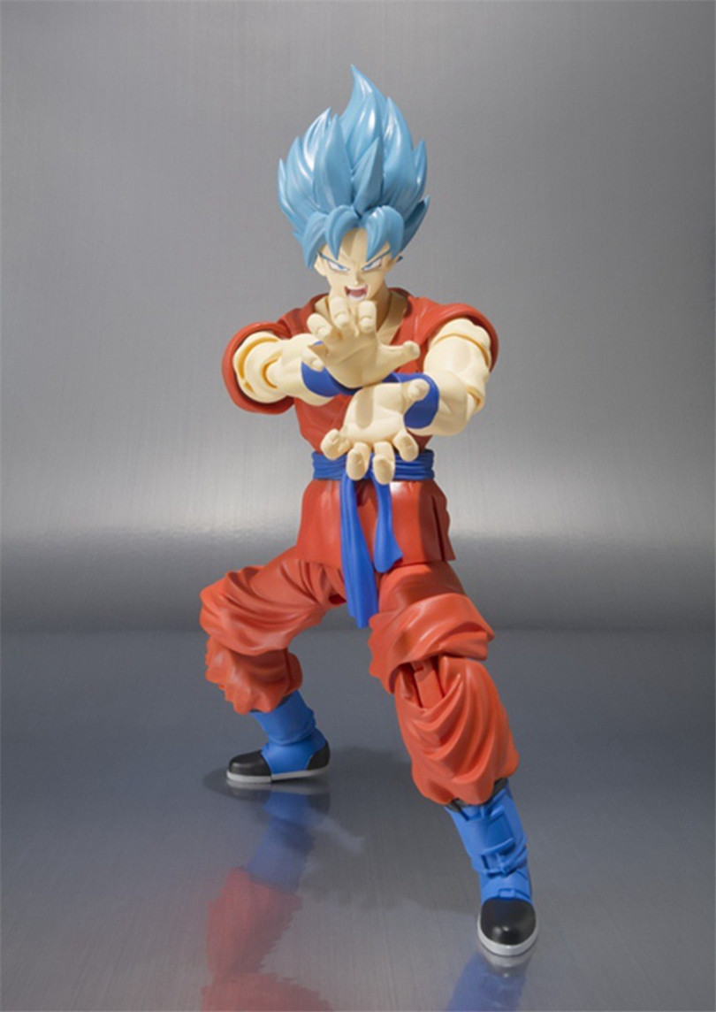 Dragon Ball Z Action figure toys Resurrection God Super Saiyan Son Goku Figure Model Collection PVC