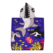 New Children Hooded Bath Towel Beach Swimming Towel For Kids Boys Girls  #T026#