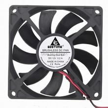 Gdstime 12V 80mm 2Pin Ball Bearing 8cm 80x80x15mm DC Cooling Fan Radiator цена