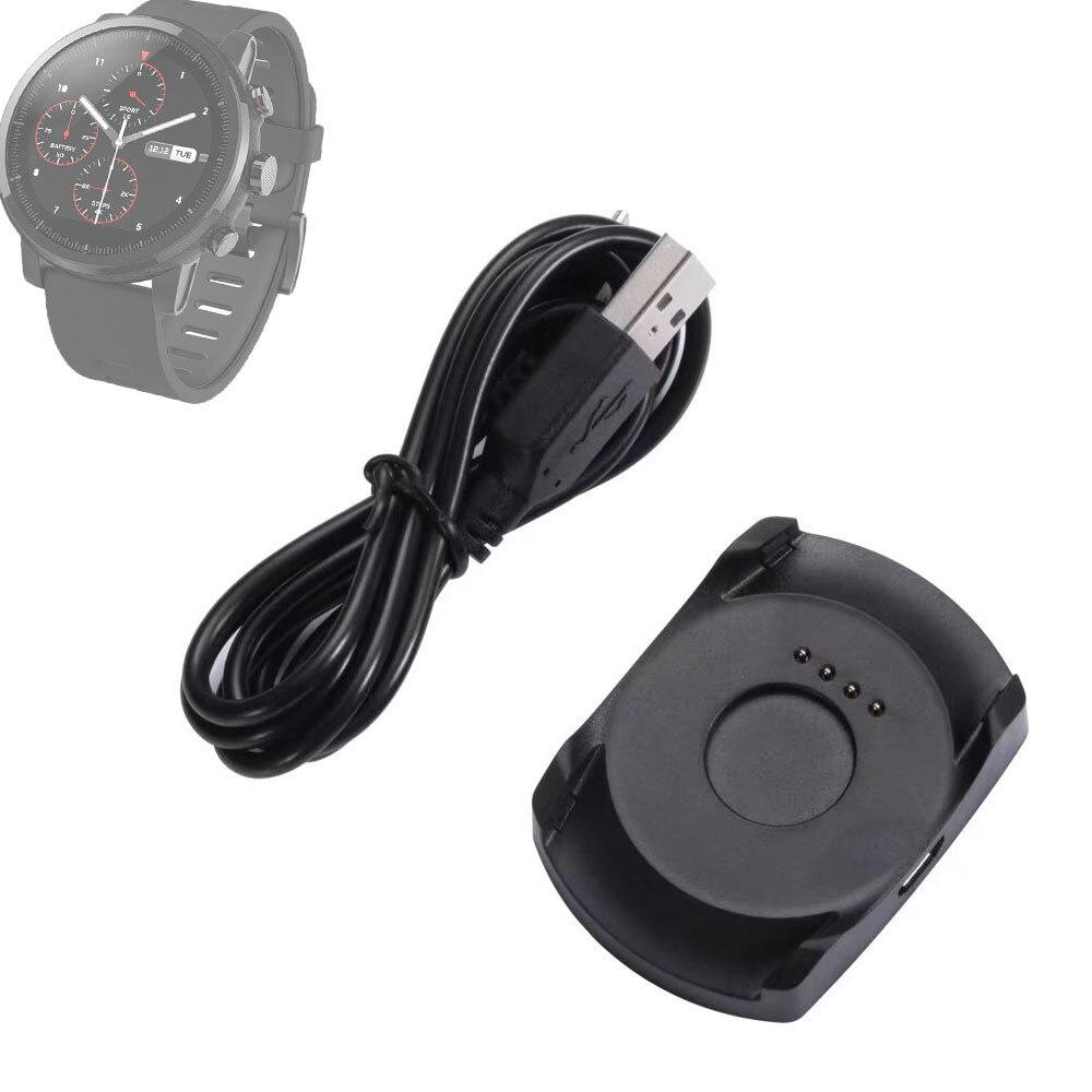 Neue USB Power Ladestation Dock Ladegerät + Micro Usb-kabel für Xiaomi Huami Amazfit 2 Sportuhr