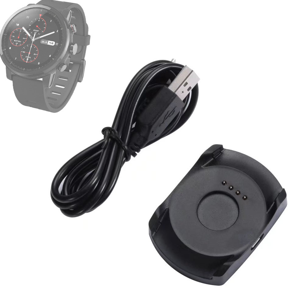New USB Power Charging Cradle Dock Charger + Micro USB Cable or with cable for Xiaomi Huami Amazfit 2 Sports Watch