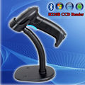 Free shipping!Handheld CCD Image Bluetooth 1D Barcode Scanner Wireless Code Reader + Free Stand for Android IOS Smart Phone