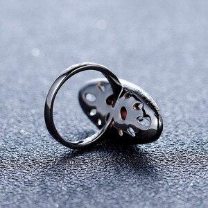 Image 4 - GEMS BALLET 925 Sterling Silver Gemstones Ring 1.54Ct Natural Red Garnet Original Handmade Lemon Finger Rings for Women