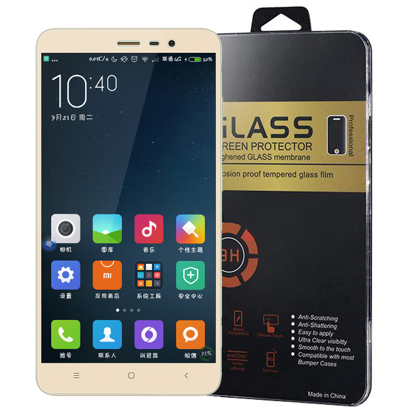 For Xiaomi redmi note 4x Tempered Glass Film 9H redmi 3s redmi 4x note 3 pro note 2 4x 4a xiaomi Max mi4 4c mi5 screen Protector