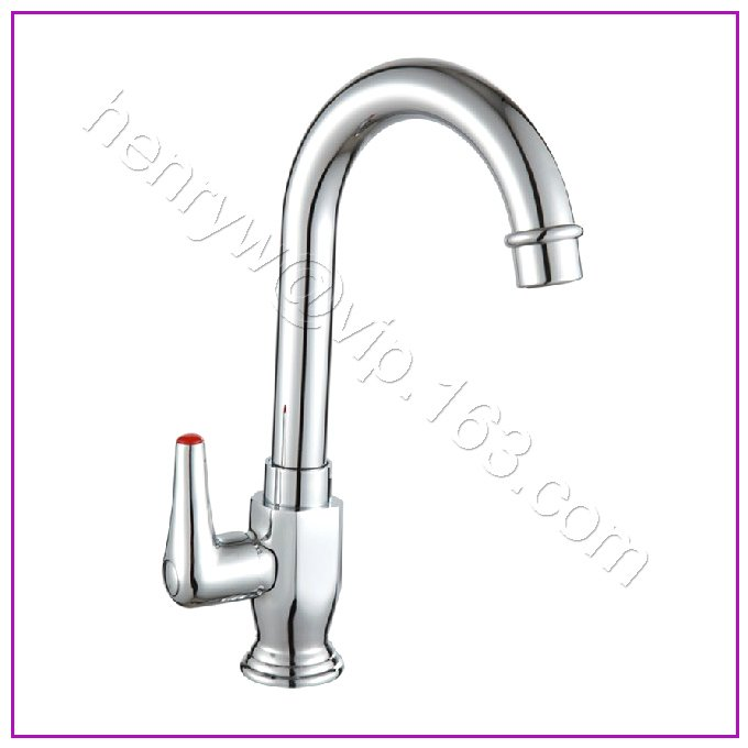L15961-роскошный латунный материал кухонный кран для раковины серебряный цвет только краны для холодной воды - Цвет: Светло-серый