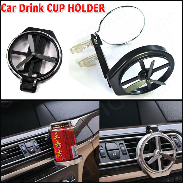 Universal Folding Air Conditioning Inlet Auto Car Drink Holder Car Beverage Bottle Cup Car Frame for Truck Van Drink