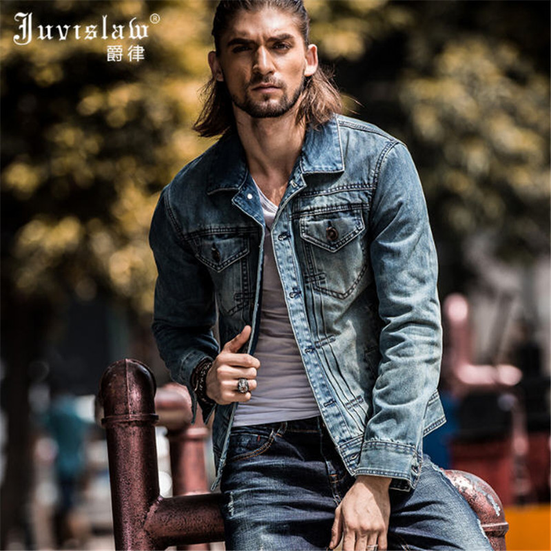 Aliexpress.com : Buy Spring Autumn Jeans Jacket Men Slim Fit ...