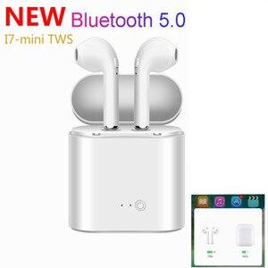 Image 2 - ロシア在庫で tws 耳 bluetooth I7 I7s ミニワイヤレスイヤホン音楽インナーイヤーステレオヘッドセット iphone × 7 8 サムスン xiaomi
