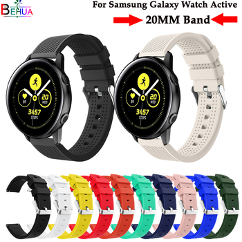 sport silicone watchband For Samsung Galaxy watch active strap For Samsung Galaxy 42mm/Gear S2 smart watch Replacement wristband sport soft silicone bracelet wrist band for samsung galaxy watch 42mm sm r810 replacement smart watch strap wristband watchband