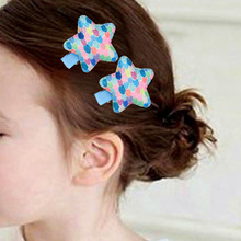 Hot 2PCS New Fantasy Colorful Rainbow Shiny Love Star duckbill clip Children Girls Baby Hairpins Hair Accessories