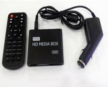 REDAMIGO Car Full HD 1080P MINI Media Player for car Center HDD U Disk MultiMedia Player Media box with HDMI AV USB SD/MMC K7+C стоимость