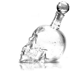 OUSSIRRO Crystal Skull Head Bottles Wine Vodka Decanter