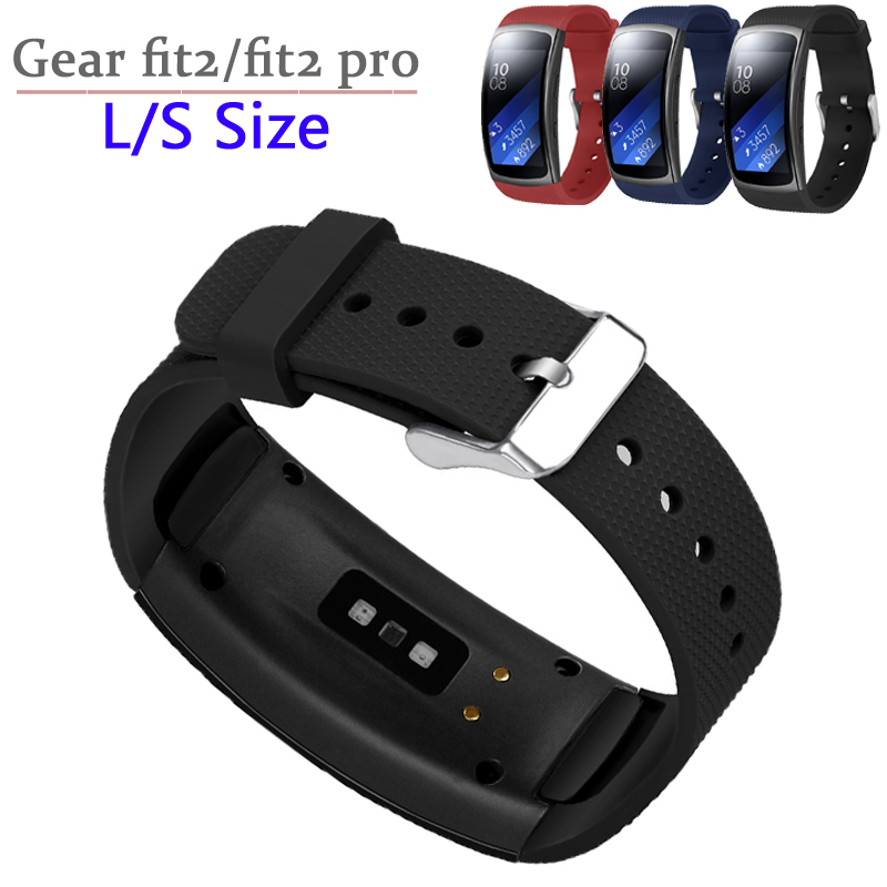 L/S Size For Samsung Gear Fit 2 Pro Strap Band Wrist Bracelet Sports Silicone Watchband For Samsung Gear Fit 2 SM-R360 Strap