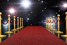 Laeacco Stage Flash Lamp Red Carpet Show Scene Party Poster Portrait Photography Background Customized Backdrop For Photo Studio