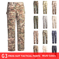 Camouflage Frog Pants Military Uniform Men's SWAT Working Pants CS Tactical Trousers Men Outwear Large Size 42 with Knee Pads