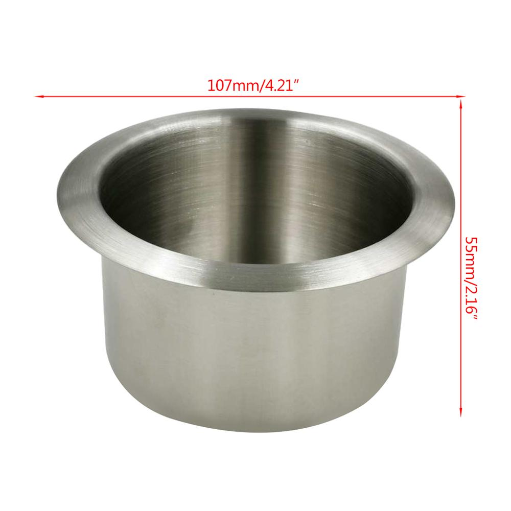 1Pc Stainless Steel Cup Drink Holder Marine Boat Car Truck Camper RV in Drinks Holders from Automobiles Motorcycles