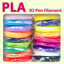 Hiçbir kirlilik pla 1.75mm 20 renkler 3d kalem filament pla filament 3d kalem pla plastik abs plastik 3d baskı filament 3d filament