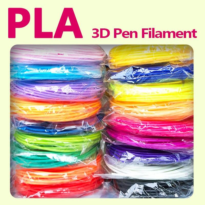 No pollution pla 1.75mm 20 colors 3d pen filament plastic abs printing